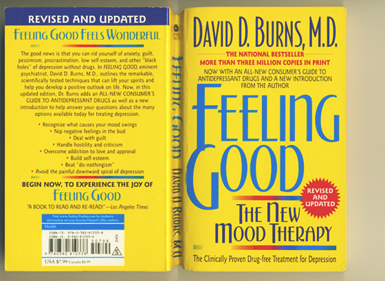 De omslag van het boek Feeling Good, the New Mood Therapy, van David Burns